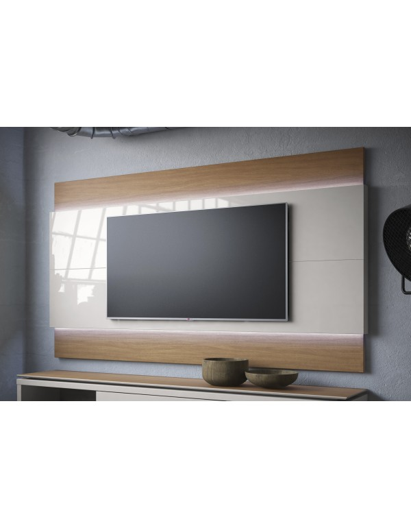 Painel para TV Lincoln Offwhite com Natural 2,20 m