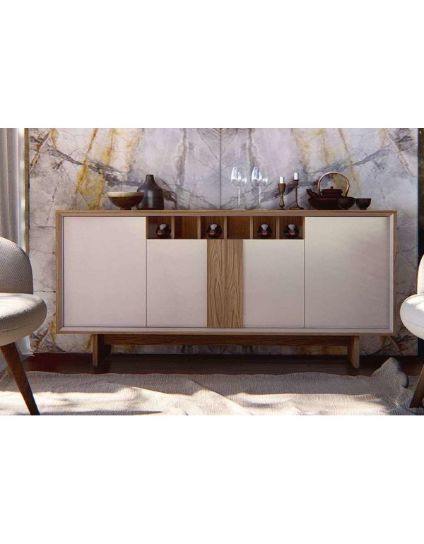 Buffet Barcelona Noce Com Off White